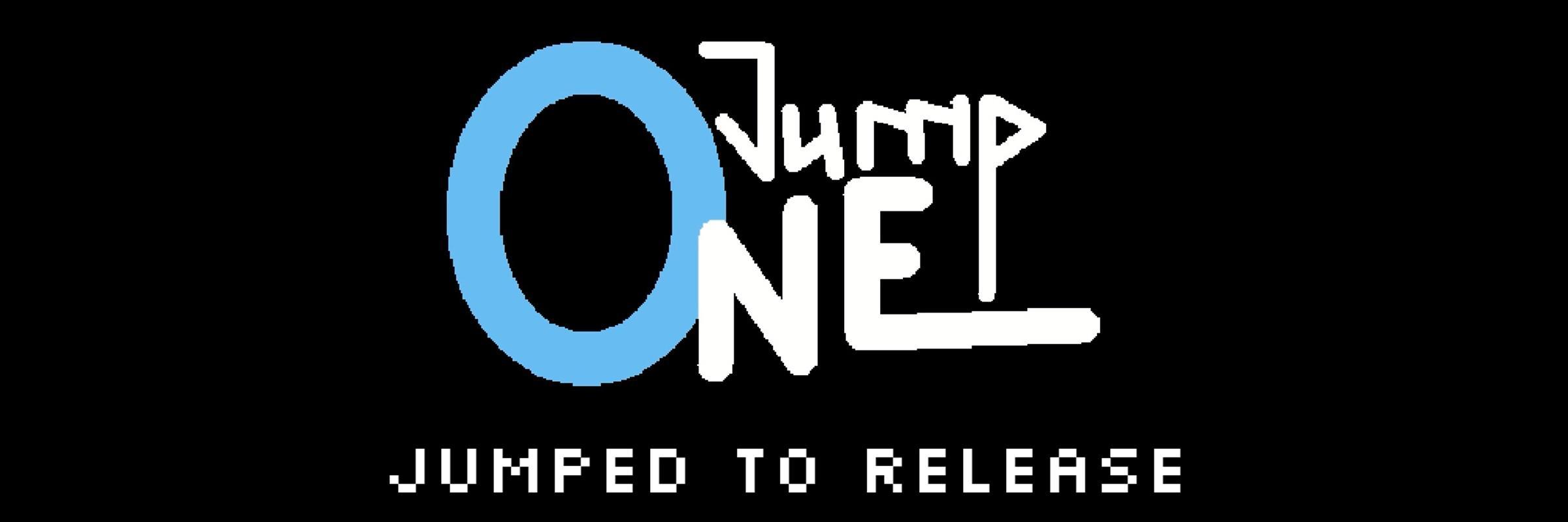 """Logo von OneJump mit der Bildunterschrift """"Jumped to Release"""""""