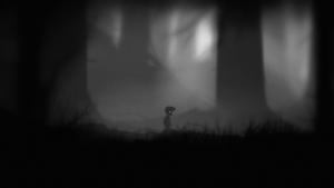 Screenshot aus dem Spiel; Anfang von Limbo