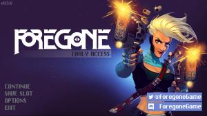 Foregone-Startemenü; ingame Screenshot