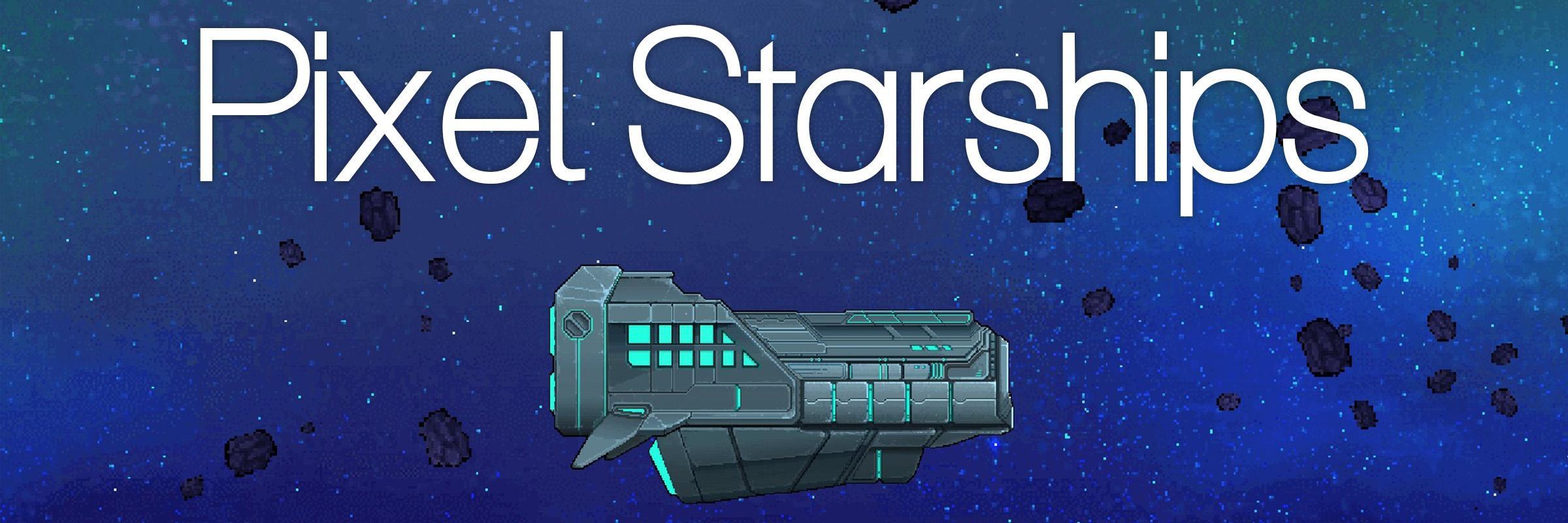 """Screenshot aus der Steam-Version von Pixel Starships mit der Überschrift """"Pixel Starships"""
